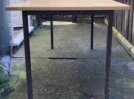 Metal framed table