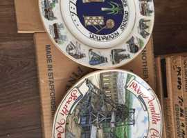 Fine China miners/Coal industry plates