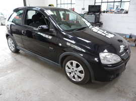 Vauxhall Corsa, 2005 (55) Black Hatchback, Manual Diesel, 76,000 miles
