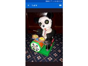Vintage Drumming Panda Toy
