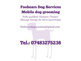 Mobile dog grooming specialists
