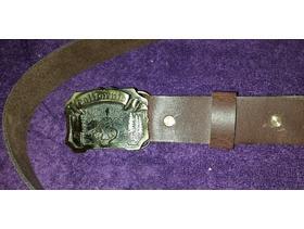 Vintage U.S. belt buckle with leather belt