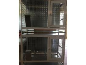Aluminum cage for rabbit. Gold Secure Safety Equipment. Color-white. - 2 Cage