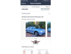 Bentley Flying spur, 2015 (65) blue saloon, Manual Petrol, 9999 miles