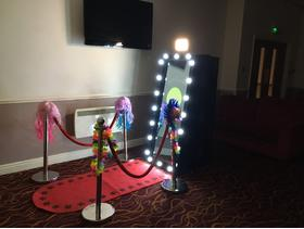 Magic mirror and heart booth hire
