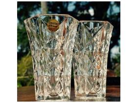 2 lovely UNUSED vintage, lead crystal vases from 1970