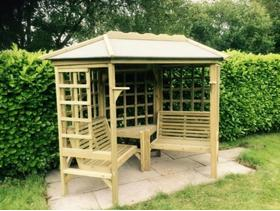 Wooden Arbour For Garden (with roof)