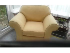 Sofa and matching chair, custom made.  Beautiful condition.