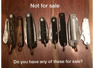 JACK KNIVES WANTED WW1/WW2/MILITARY