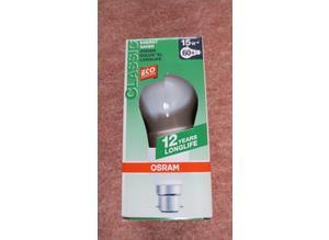 Brand New OSRAM Dulux EL Longlife Classic Energy Saving Lamp 15W B22
