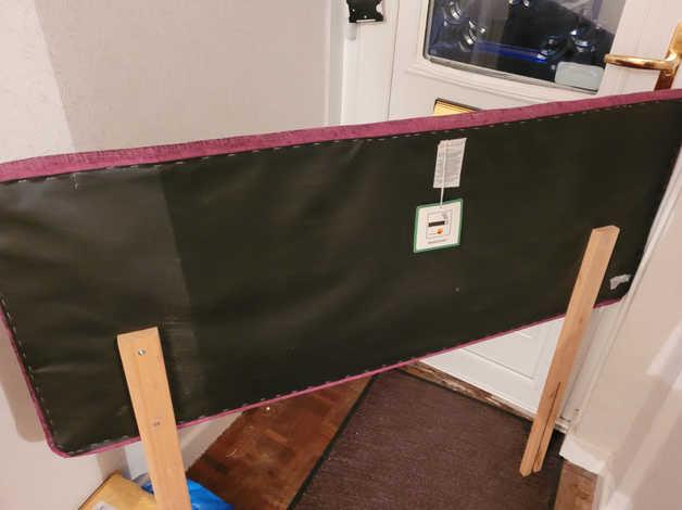Velvety Purple head board in Burnham-on-Sea