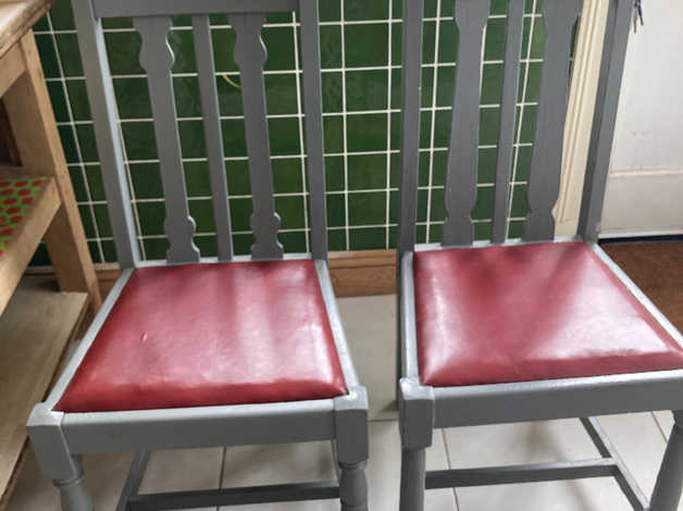 2 wooden hand painted kitchen chairs in Rottingdean