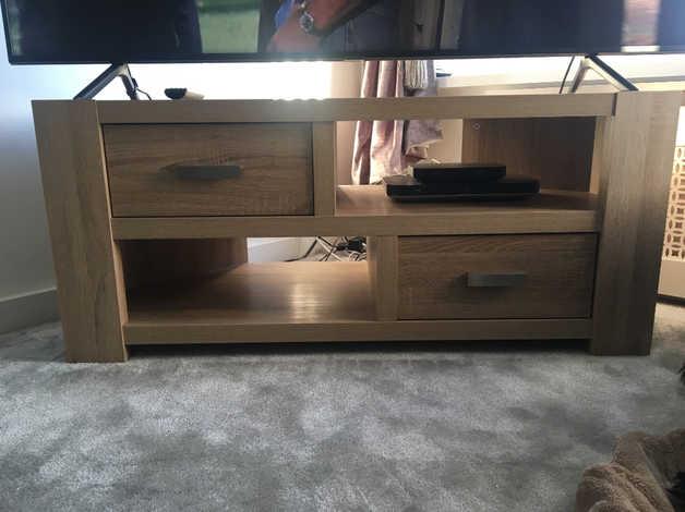 Next Tv corner stand in light oak in Leeds