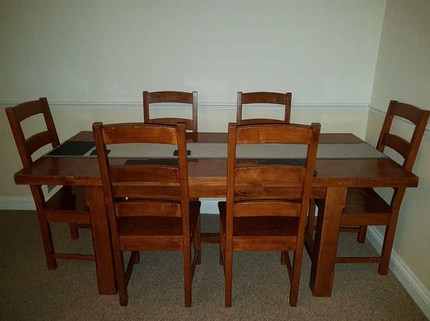 Elegant Solid Mango Wood Table Chairs