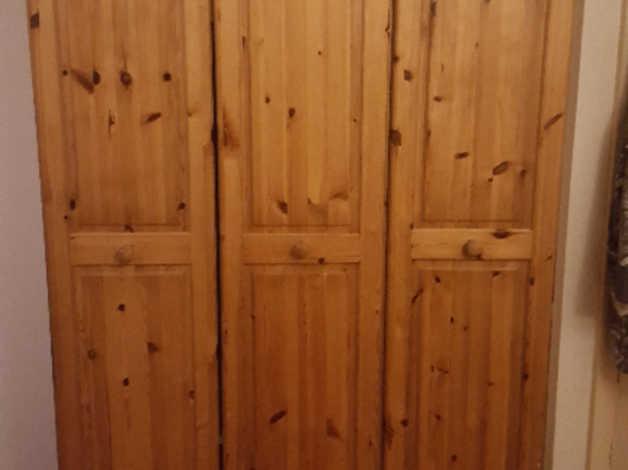 FREE 3 door solid pine wardrobe in Bexley
