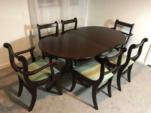 Surprising Brown Wooden Shabby Chic Table 6 Chairs Set In Hanworth Feltham In Hounslow Download Free Architecture Designs Scobabritishbridgeorg