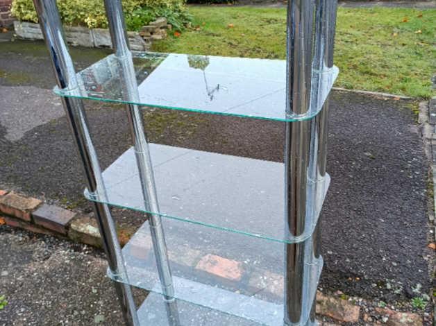 glass shelving unit in Birmingham