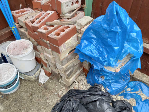 Free – old damaged bricks and 3 bags of rubble/hardcore in Stowmarket