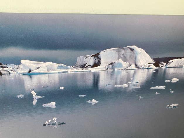 Large IKEA iceberg scene in Barry